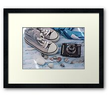 Travel still life Framed Print