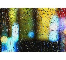 Crackling glass and color Photographic Print