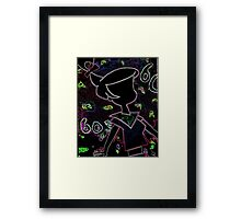 Trippy Judy (Spaced Out) Framed Print
