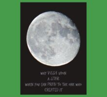 Moon Photo , Quote Wish Upon A Star One Piece - Short Sleeve