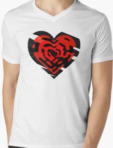 Stacked Hearts Mens V-Neck T-Shirt