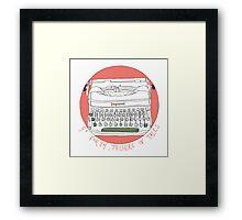 Tale telling typewriter  Framed Print