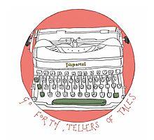 Tale telling typewriter  Photographic Print