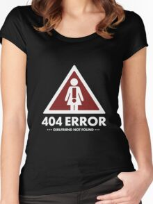 404 GirlFriend Not FOund Women's Fitted Scoop T-Shirt