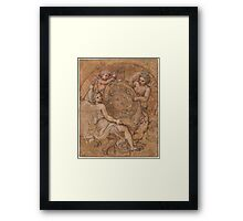 Michel Corneille, the Younger  The Coat of Arms of France and  Framed Print