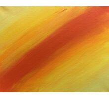 Yellow Orange Gradient Colors Photographic Print