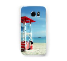 The lifeguard tower in a lonely beach Samsung Galaxy Case/Skin