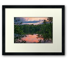At the end of the day... Framed Print
