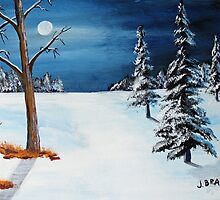 New Moon New Snow by Jack G Brauer