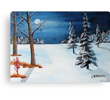New Moon New Snow Canvas Print