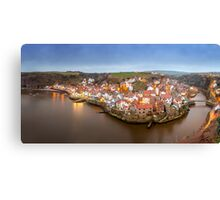 Staithes Panoramic View Canvas Print