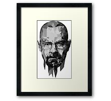 BreakingBad-Face Framed Print