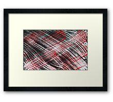 Red Black White Flannel Framed Print