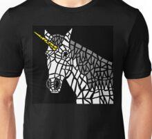 White Unicorn Tile Design Unisex T-Shirt