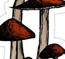 Mushroom Family Sticker
