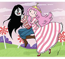 Princess Bubblegum & Marceline Photographic Print