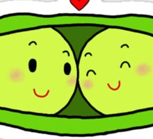 Two Peas in a Pod - White Edition Sticker