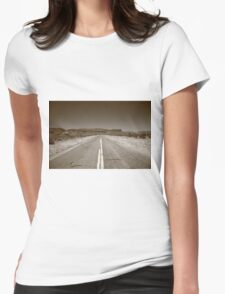 Route 66 in Arizona Womens Fitted T-Shirt