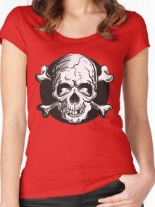Skull illustration Women's Fitted Scoop T-Shirt