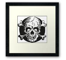 Skull illustration Framed Print