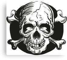 Skull illustration Canvas Print