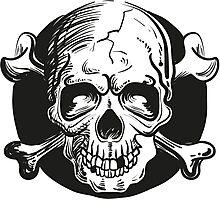 Skull illustration Photographic Print