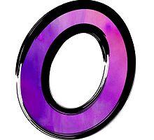 Watercolor - O - purple by hartzelldesign