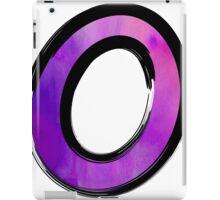 Watercolor - O - purple iPad Case/Skin