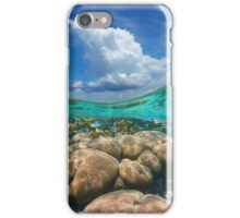 Over under sky cloud split with coral reef underwater iPhone Case/Skin