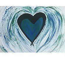 Blue Green Heart Photographic Print