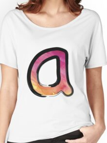 Watercolor - A - pink Women's Relaxed Fit T-Shirt