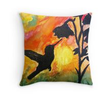 Morning Nectar Throw Pillow