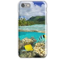 Above and below surface lagoon French Polynesia iPhone Case/Skin