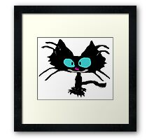 Black Cat Smiling  Framed Print