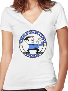 The Fighting Vulcans with logo Women's Fitted V-Neck T-Shirt