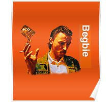Begbie throws Glass of Beer - Scene from Trainspotting T-Shirt Poster