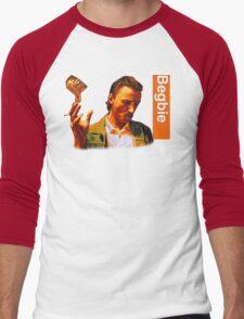 Begbie throws Glass of Beer - Scene from Trainspotting T-Shirt Men's Baseball ¾ T-Shirt