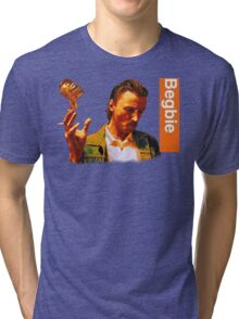 Begbie throws Glass of Beer - Scene from Trainspotting T-Shirt Tri-blend T-Shirt