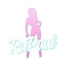 RuPaul - Pink & Blue Silhouette. by ieuanothomas22