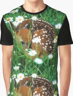 Fawn & Wildflowers Graphic T-Shirt
