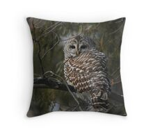 Silent in the snow Throw Pillow
