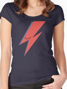 Ziggy: David Bowie Tribute Women's Fitted Scoop T-Shirt