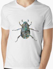 Trash Beetle (White) Mens V-Neck T-Shirt