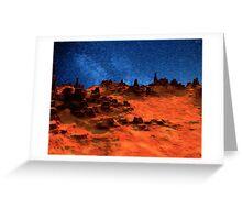Mars And Stars Greeting Card