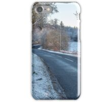 Countryside Road in Central Scotland iPhone Case/Skin