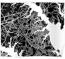 Annapolis Map - Black Poster
