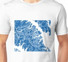 Annapolis Map - Deep Blue Unisex T-Shirt