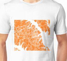 Annapolis Map - Orange Unisex T-Shirt