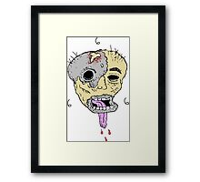 Melted Face 666 Framed Print