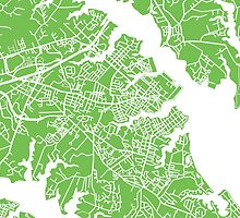 Annapolis Map - Light Green by CartoCreative